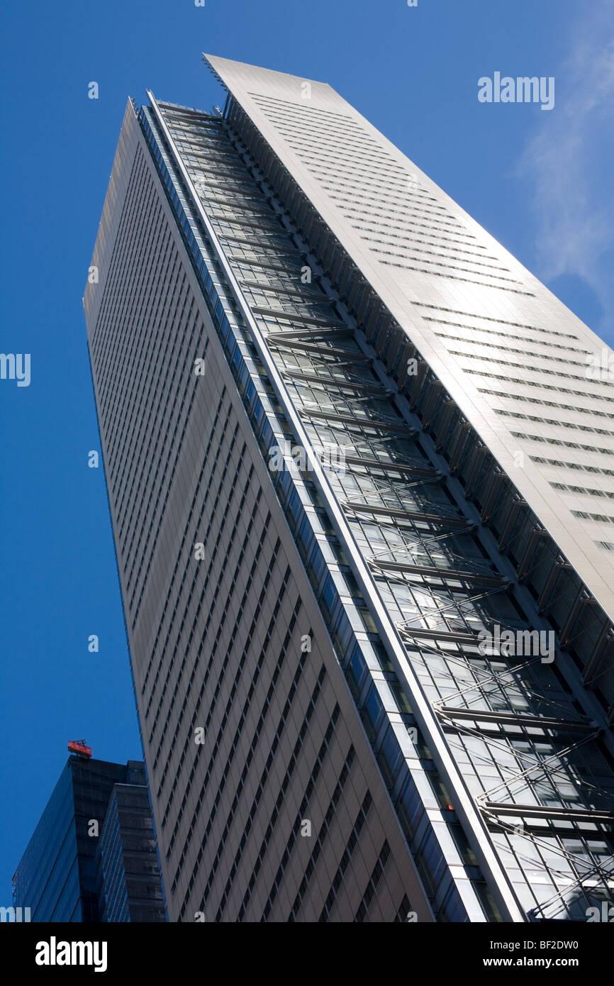 New York Times building e la torre, Renzo Piano, green building LEED utilizza luce diurna, Manhattan New York City Immagini Stock