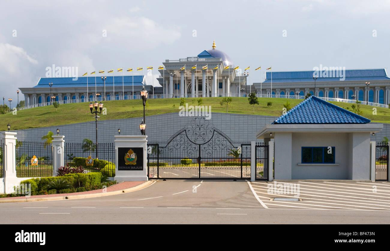 Brunei edificio del Consiglio legislativo, Bandar Seri Begawan, Brunei Darussalam, giovedì, 23 luglio, 2009. Immagini Stock