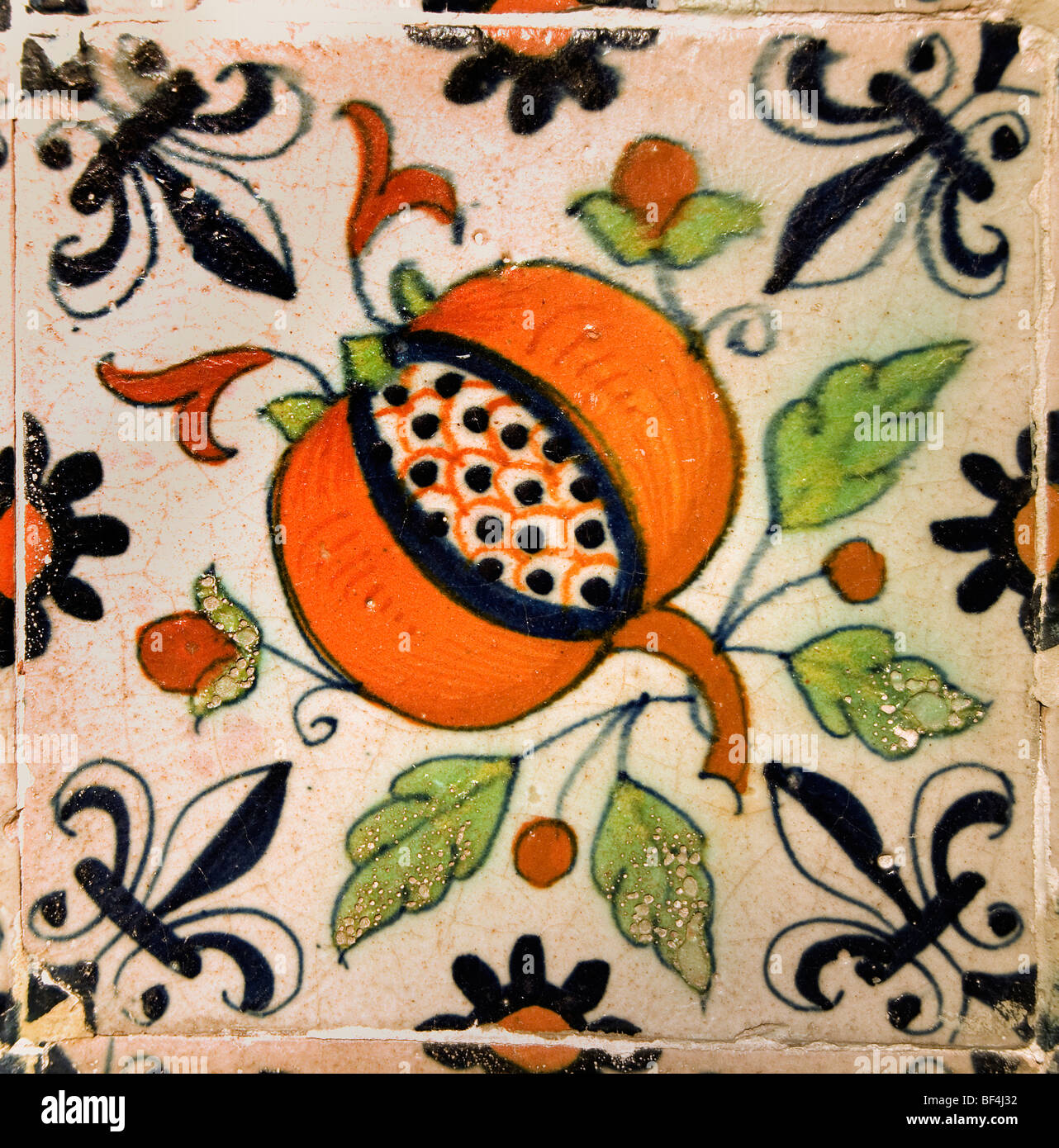 Paesi Bassi piastrelle Piastrelle 1650 Amsterdam OLANDA Immagini Stock