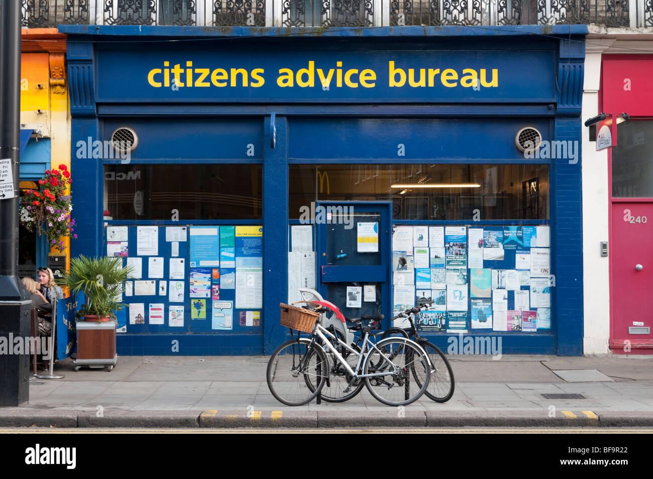 Citizens Advice Bureau in London, England, Regno Unito Immagini Stock