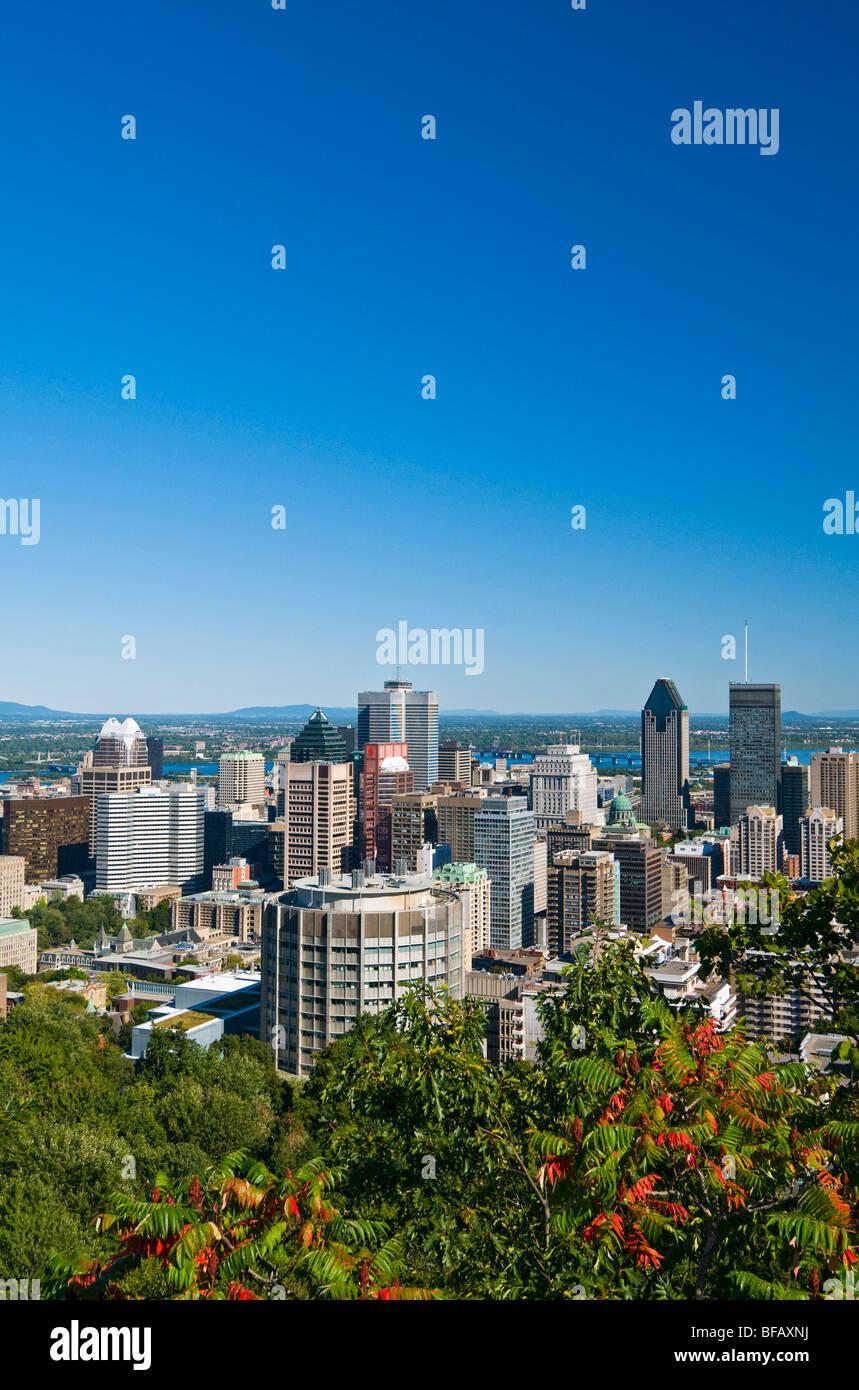 Vista di Montreal Canada Immagini Stock
