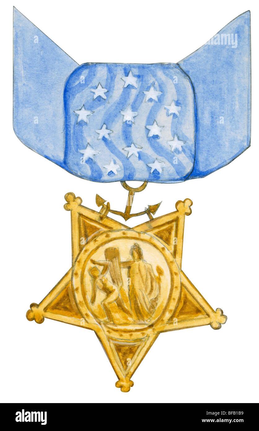 Medal of Honor (Marina) Foto Stock