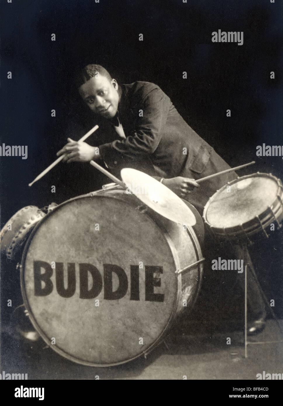 Buddie il batterista jazz Immagini Stock