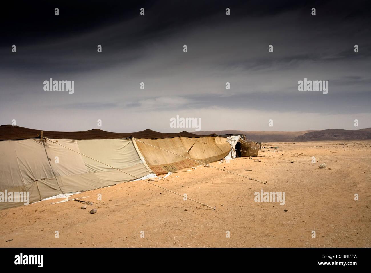 Accampamento Beduino, Wadi Rum, Giordania Immagini Stock