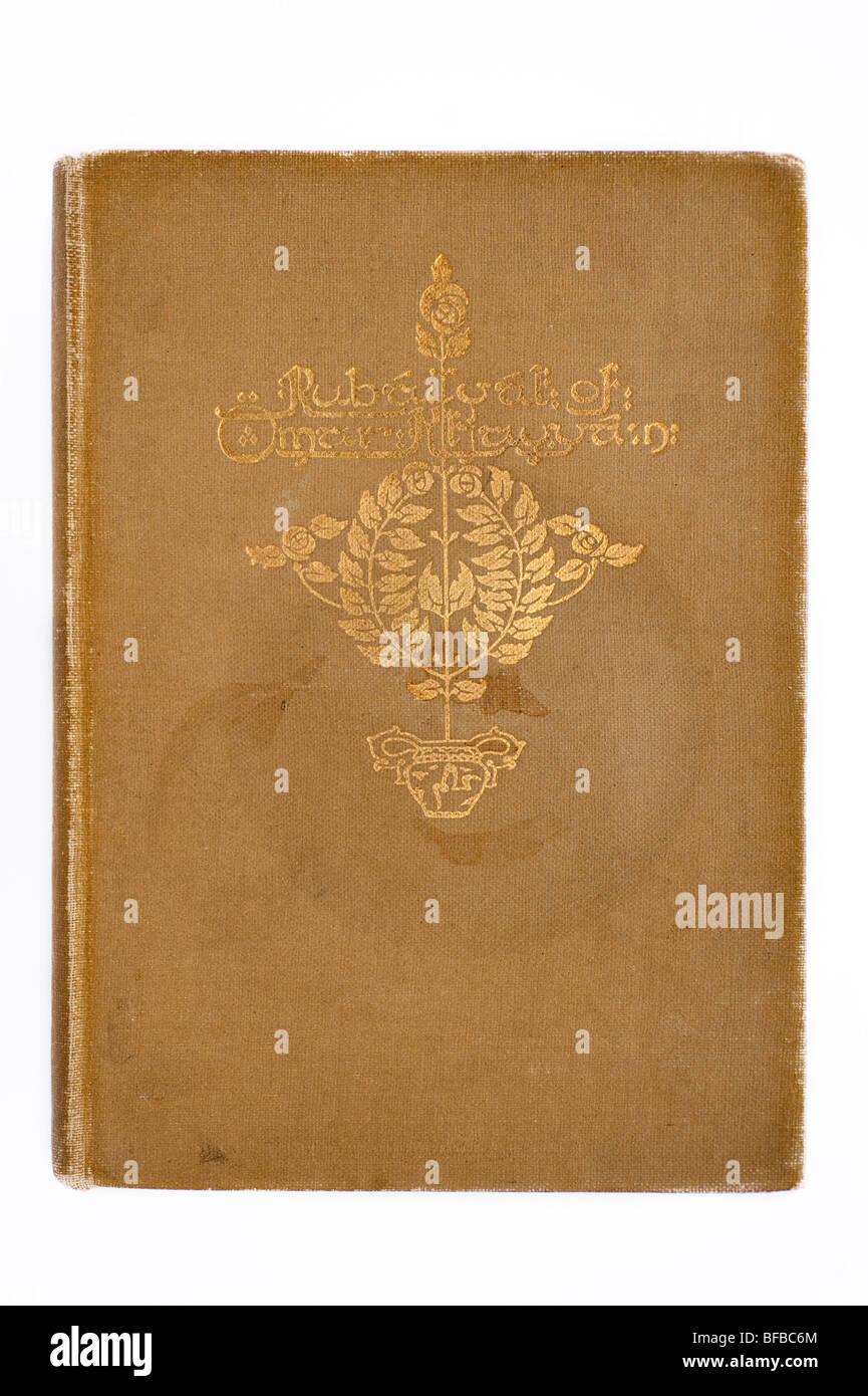 La copertina del libro, rubaiyat di Omar Khayyam Immagini Stock