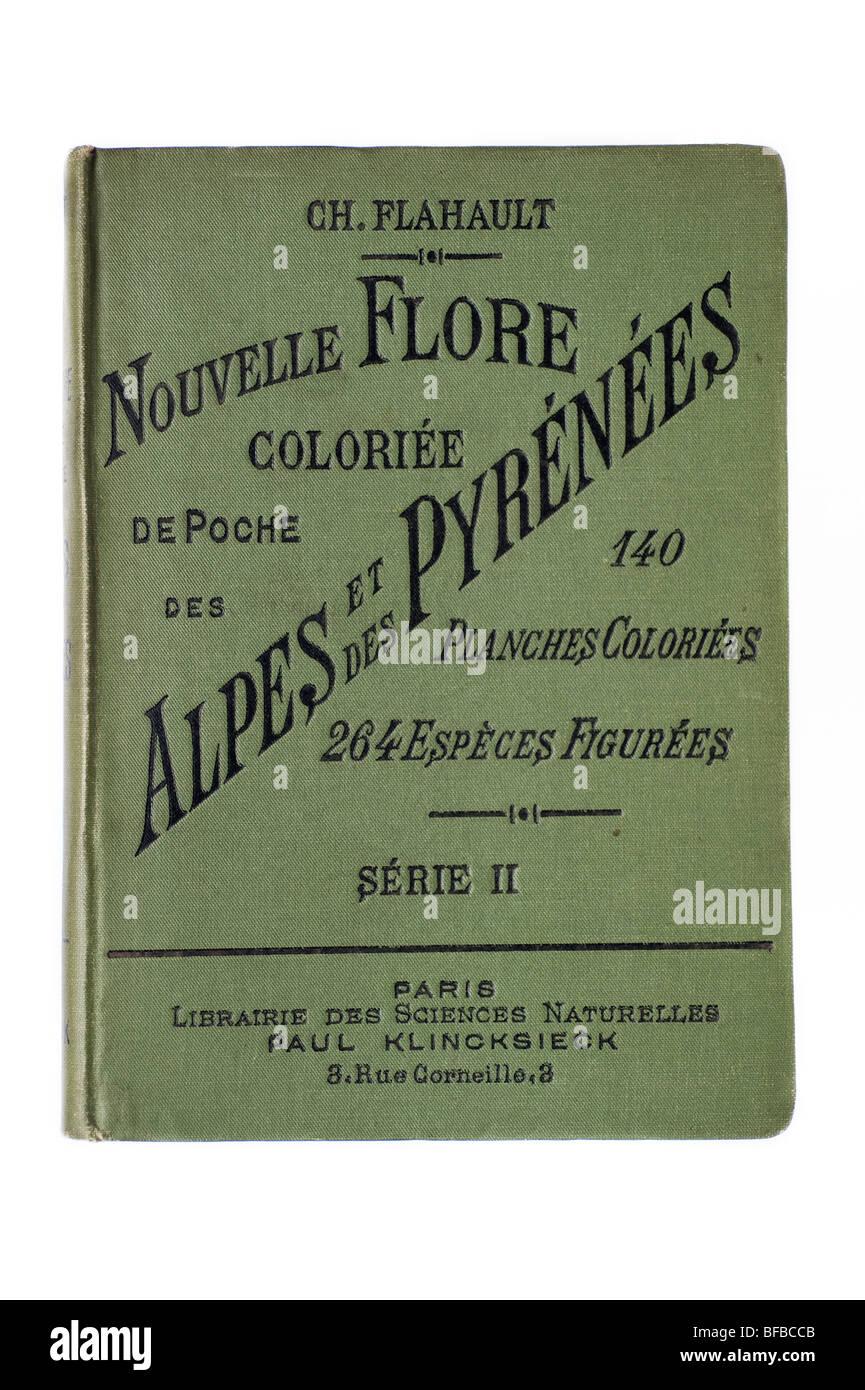 La copertina del libro, nouvelle flore colorié de poche des Alpes et des Pyrénées Immagini Stock