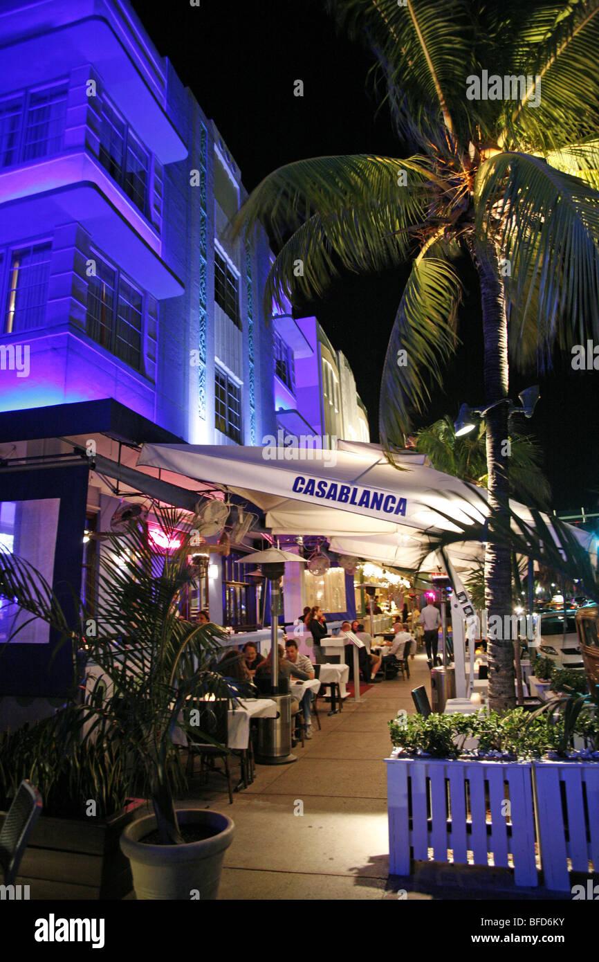 Casablanca Hotel su Ocean Drive, Miami Beach Immagini Stock