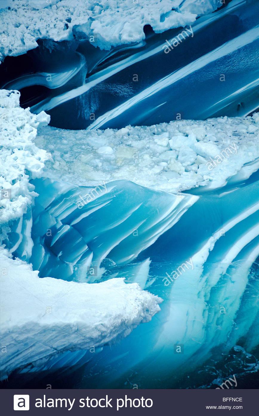 Iceberg di fusione (antenna), Antartide Immagini Stock