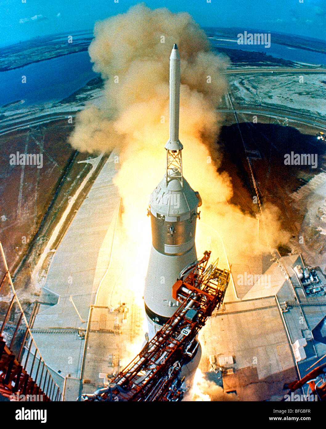 Apollo 11 Lancio, Saturn V rocket Foto Stock