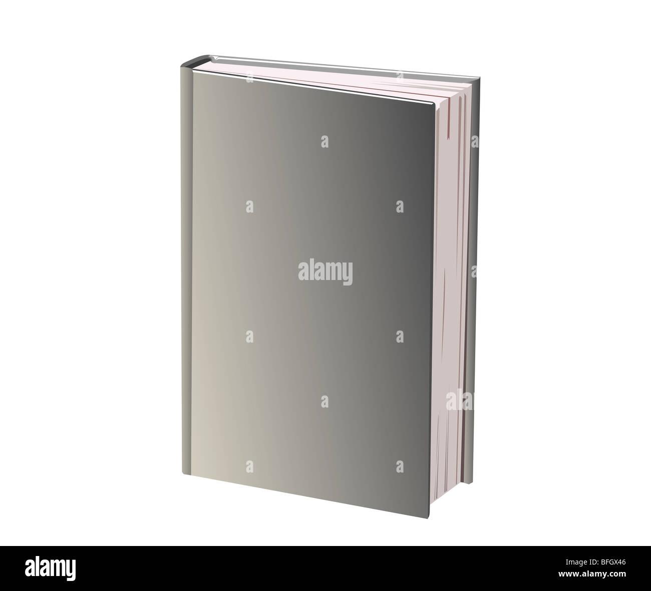 Vi è un libro con coperchio grigio Immagini Stock