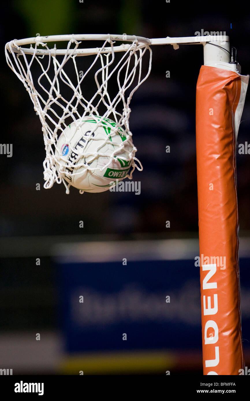 Netball in cerchio Immagini Stock