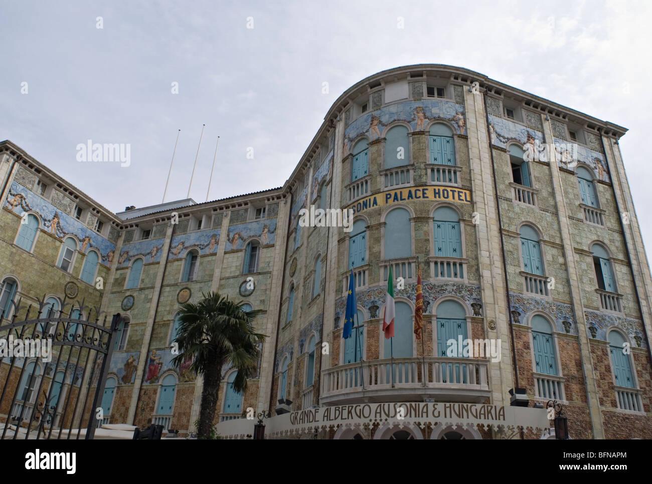 Lo stile liberty Ausonia Palace Hotel - Lido di Venezia - Venezia - Italia Immagini Stock