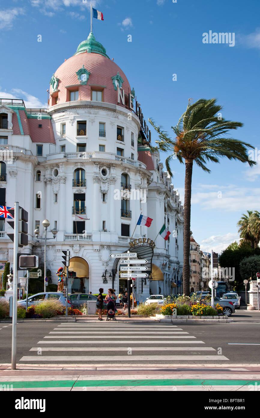 Promenade des Anglais, Nizza, Provenza, Francia Immagini Stock