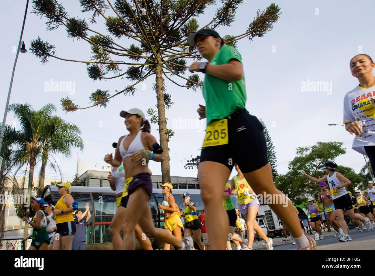 Curitiba di maratona Immagini Stock