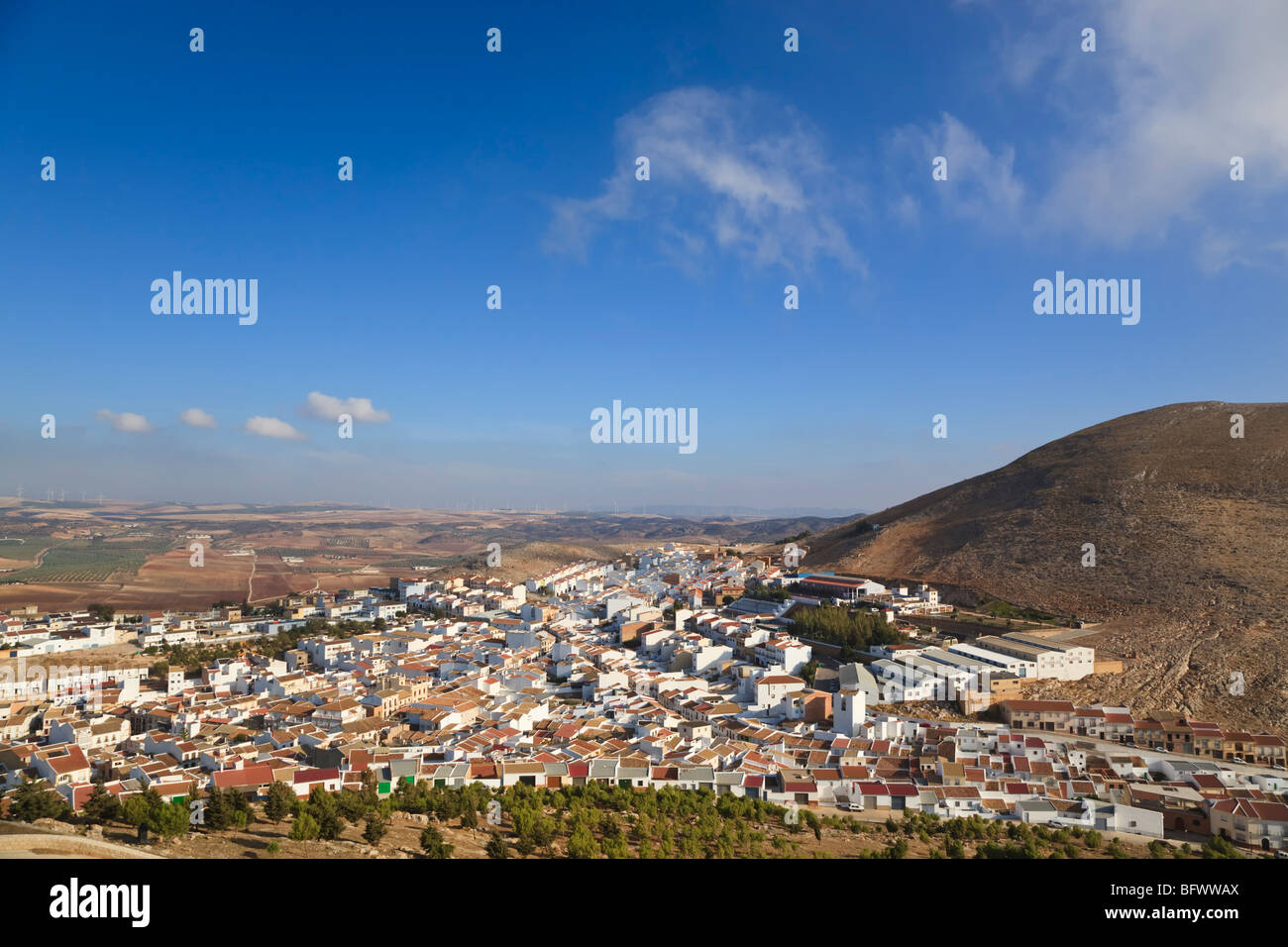 Teba, provincia di Malaga, Spagna. Immagini Stock