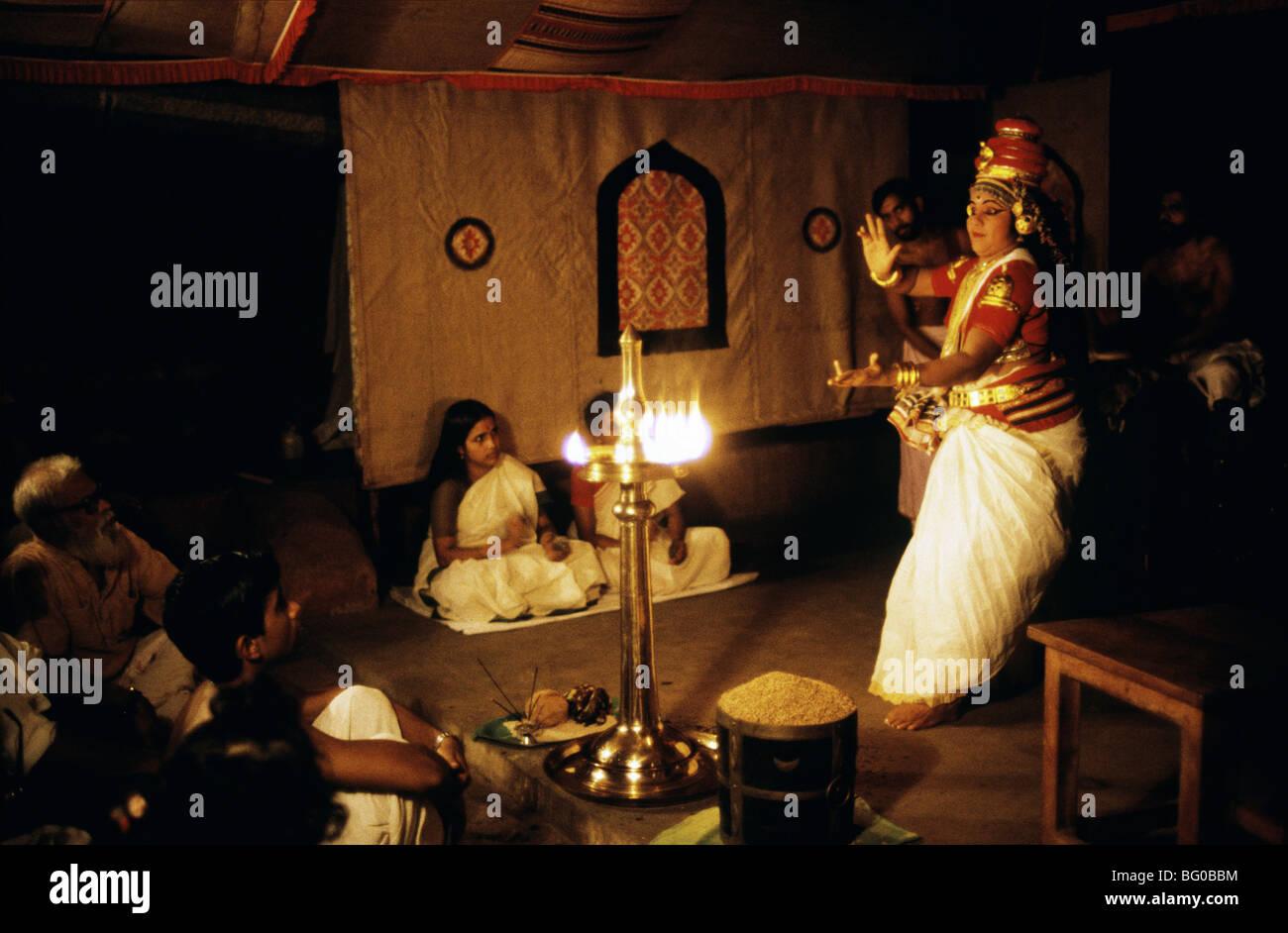 Teatro vedico in Kerala, India, Asia Immagini Stock