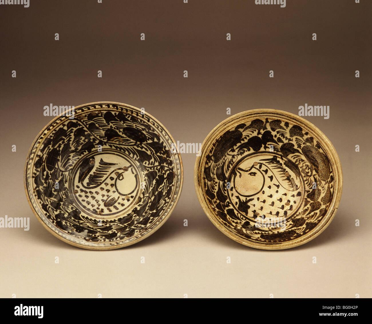 Sukhothai piatto di pesce dal XIV secolo, Thailandia, Sud-est asiatico, in Asia Immagini Stock