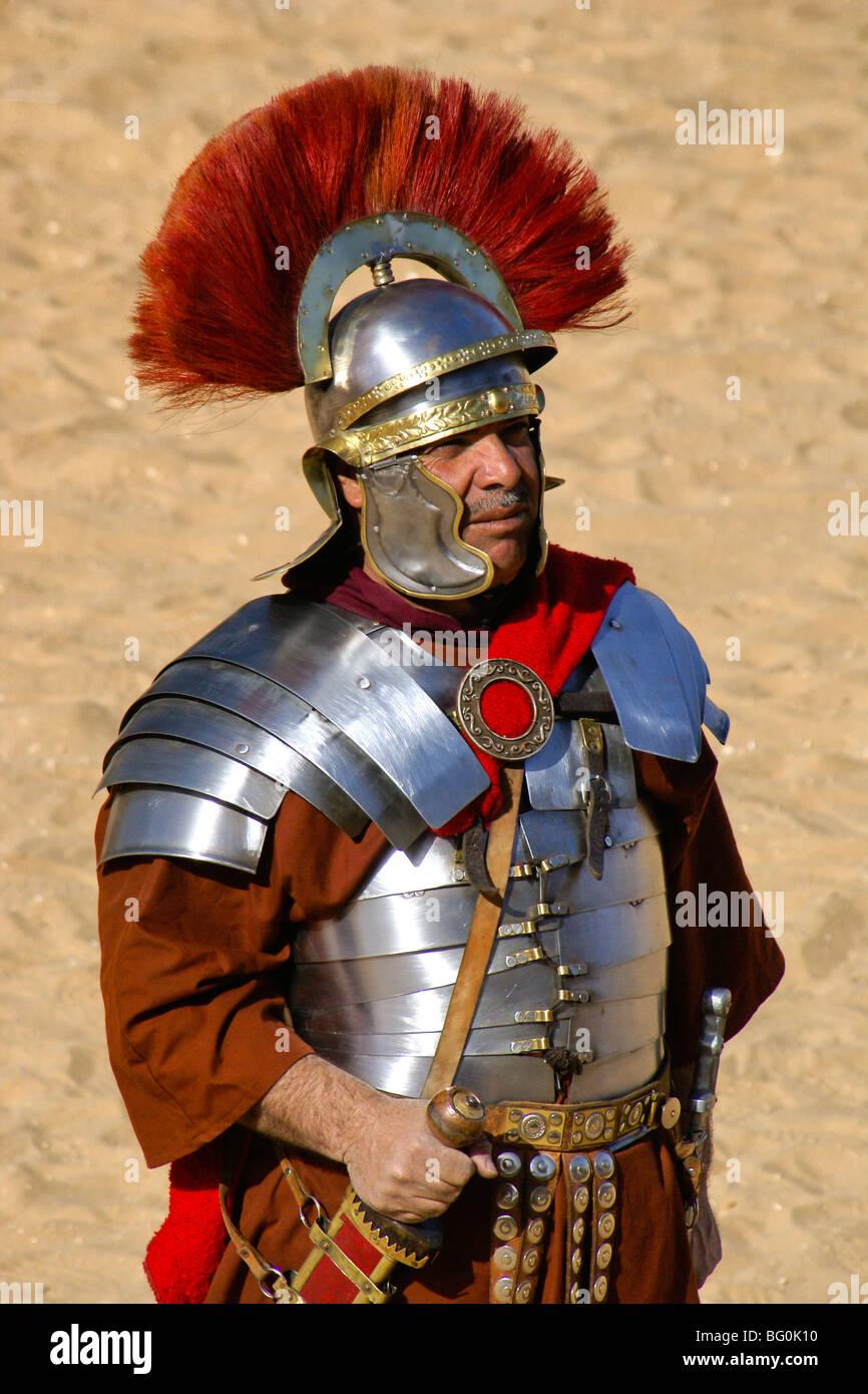 Soldato Romano a Jerash, Giordania Immagini Stock