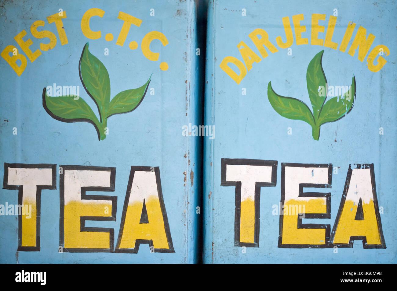 Il tè per la vendita, il Mahatma Gandhi Marg (MG Marg), Gangtok, la principale strada dello shopping, Gangtok, Immagini Stock