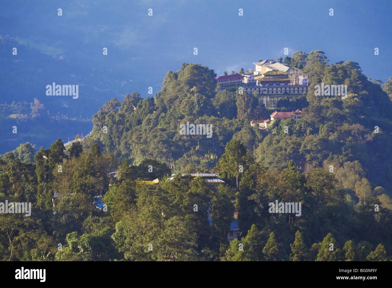 Vista della città dal punto di vista Tashi del Palazzo Reale Monastero, Gangtok, Sikkim, India, Asia Immagini Stock