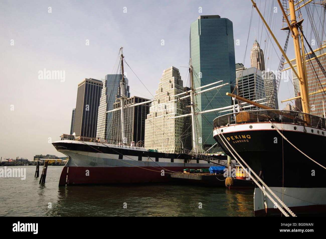 South Street Seaport, la parte inferiore di Manhattan, New York New York, Stati Uniti d'America, America del Immagini Stock