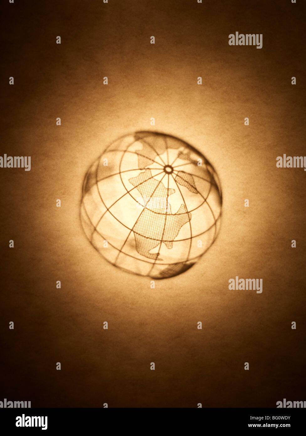 Silhouette di Globe Foto Stock
