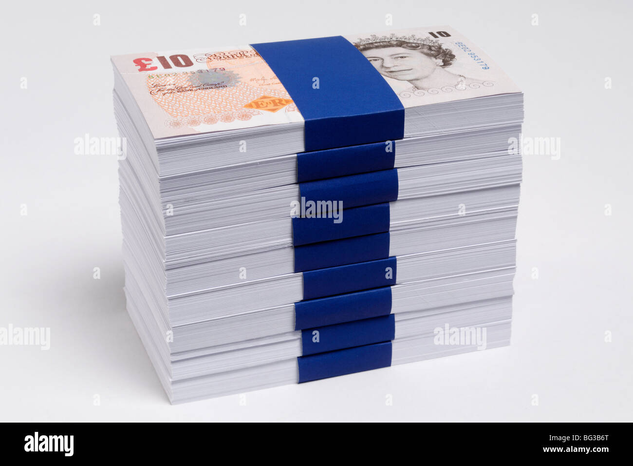 Banconota da dieci sterline Foto Stock