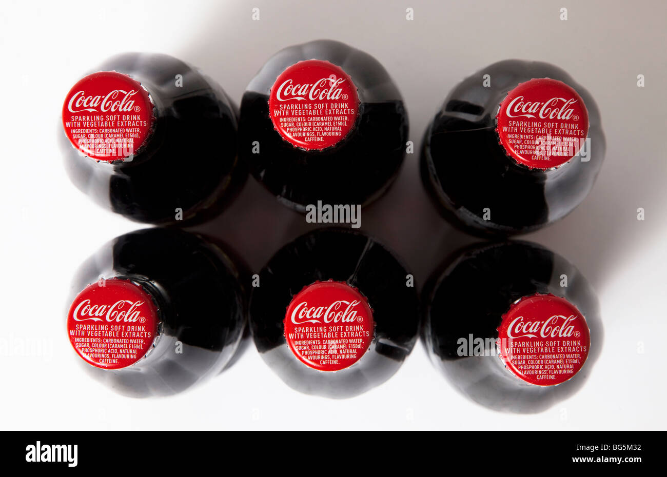 Coca cola coke bottiglie bottiglia di vetro Immagini Stock