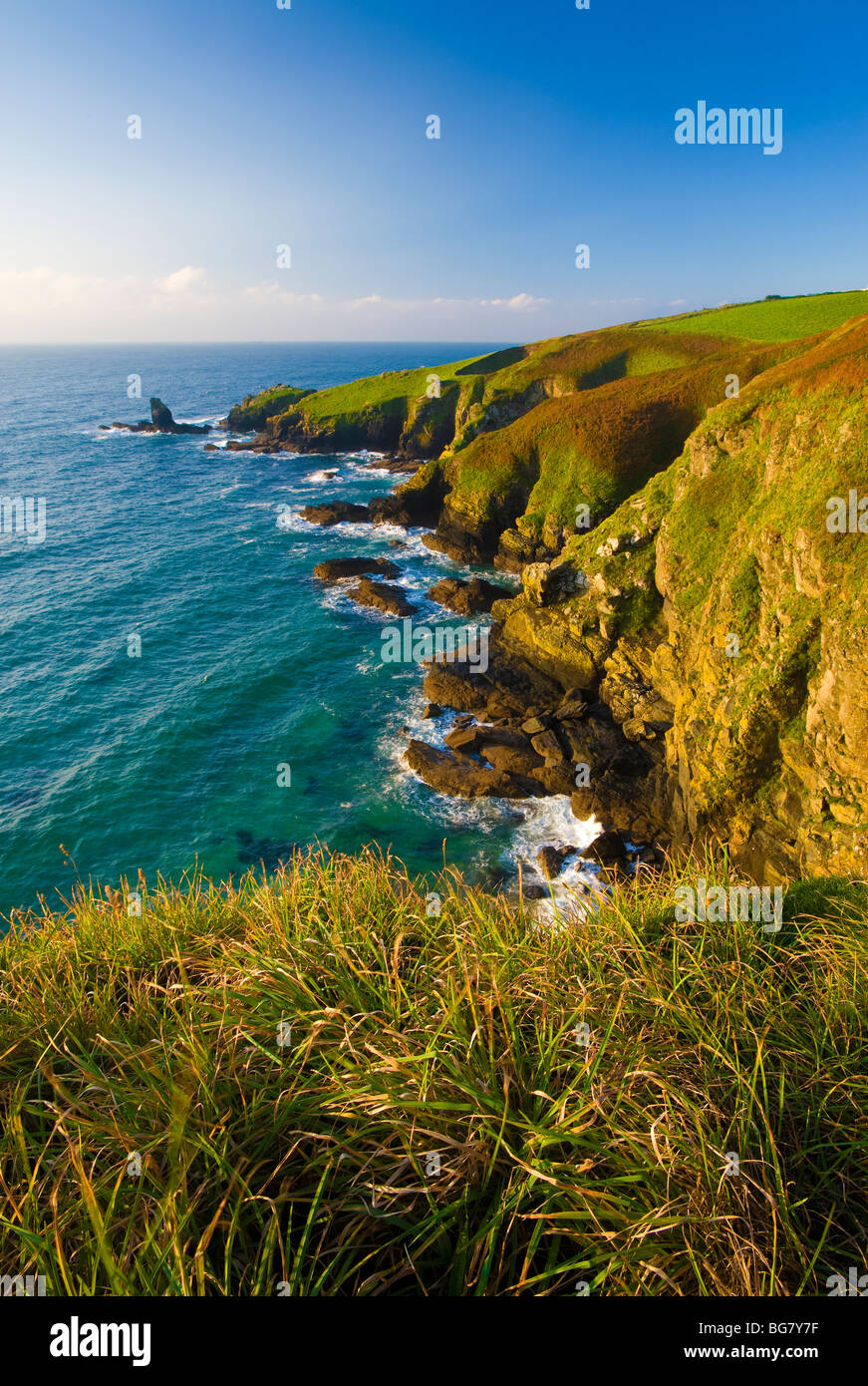 La penisola di Lizard, Cornwall, Regno Unito Immagini Stock