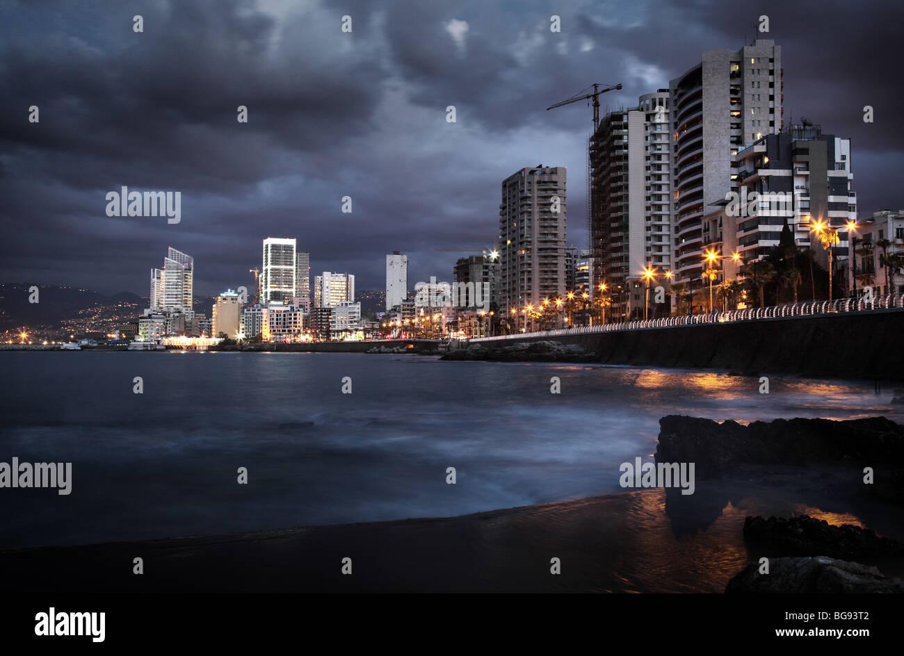 Corniche Beirut Libano araba in Medio Oriente libanesi Immagini Stock