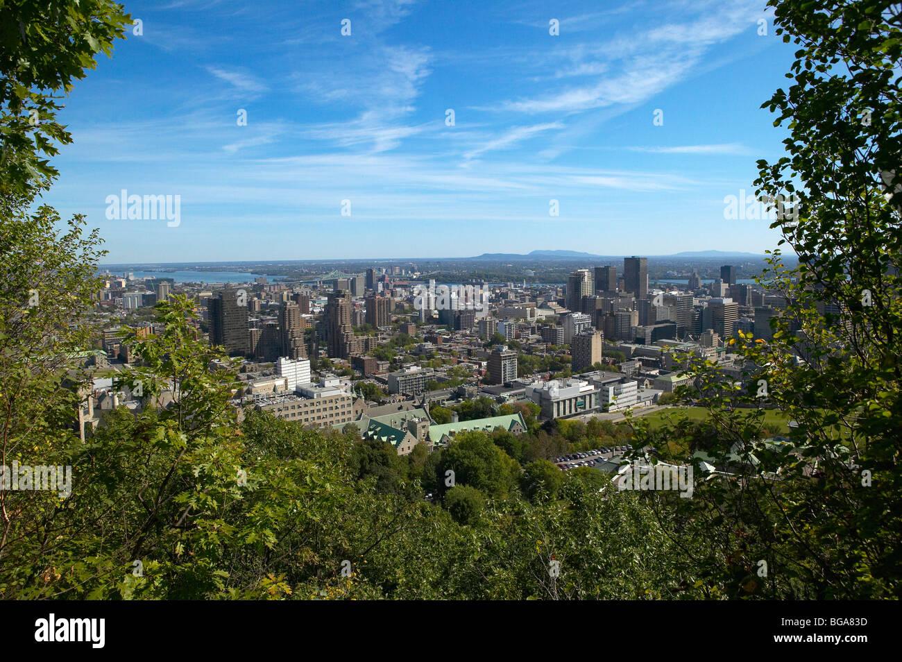 Vista di Montreal dal Mont-Royal Park, Canada Immagini Stock