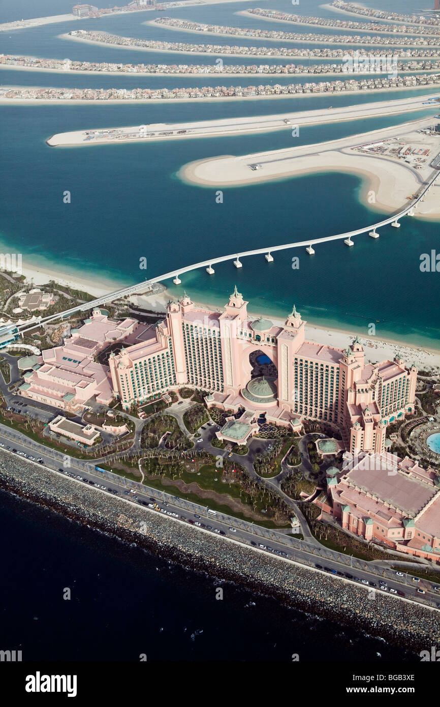 Hotel Atlantis Palm dall'aria, Dubai, Emirati Arabi Uniti Immagini Stock