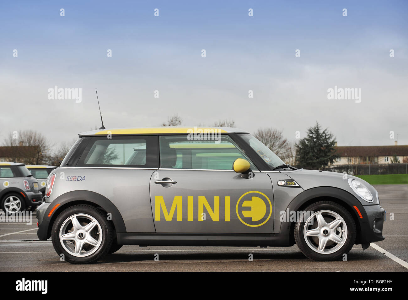 Mini e auto elettriche Immagini Stock