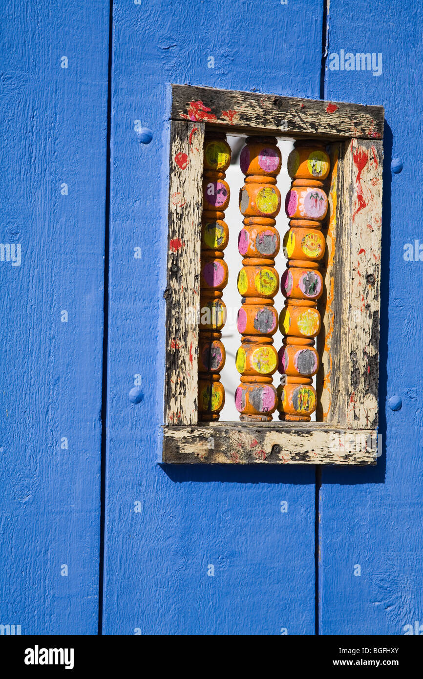 Il Blue Door Dettaglio, Tubac, maggiore Regione di Tucson, Arizona, Stati Uniti d'America Immagini Stock