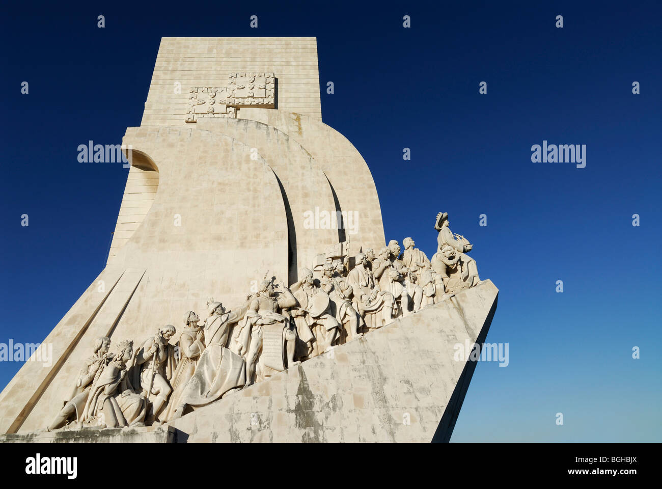 Lisbona. Il Portogallo. Il Monumento delle Scoperte Padrao dos Descobrimentos in Belem. Immagini Stock