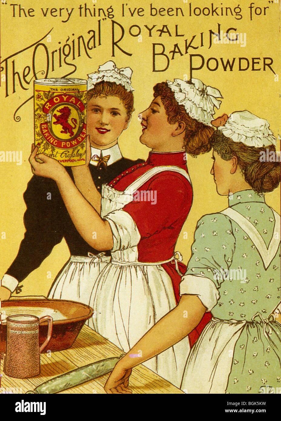 ROYAL lievito in polvere annuncio circa 1895 Immagini Stock