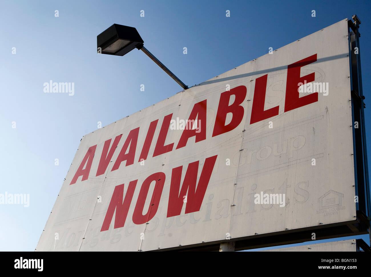 Signage pubblicità spazio retail per il noleggio o leasing. Immagini Stock