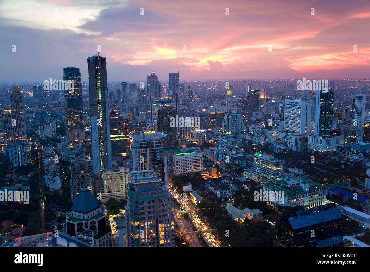 Quartiere degli affari di Bangkok, Tailandia Immagini Stock