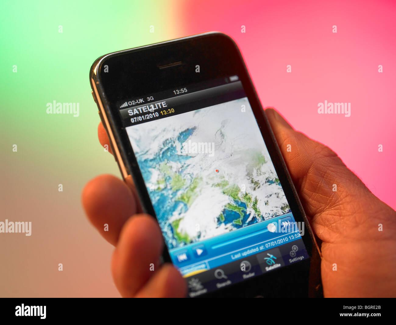Tenuto in mano il dispositivo GPS Immagini Stock
