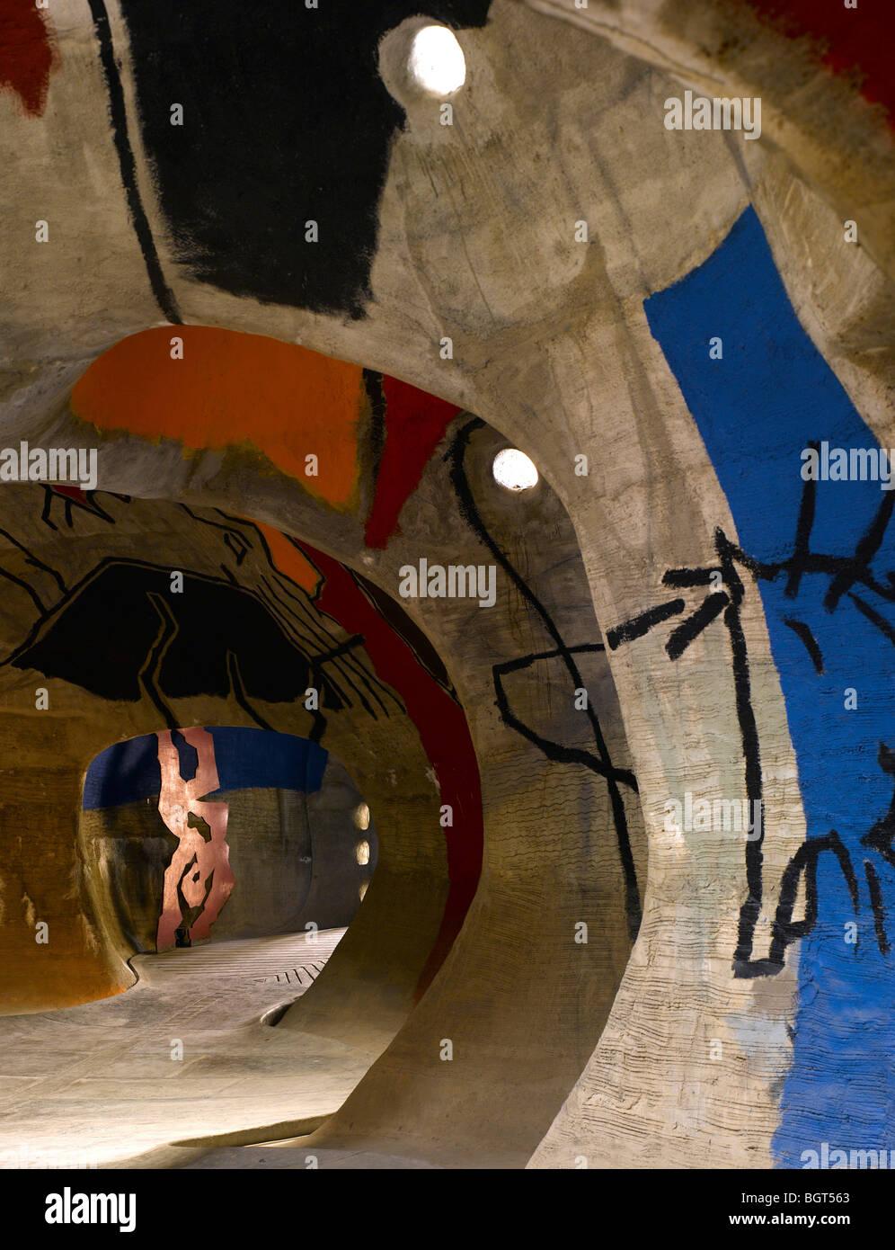 HUSAIN DOSHI GUFA Art Gallery , Ahmedabad, India, BALKRISHNA DOSHI Immagini Stock