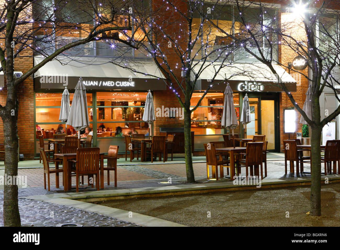 Cielo ristorante a Brindleyplace, Birmingham. Immagini Stock