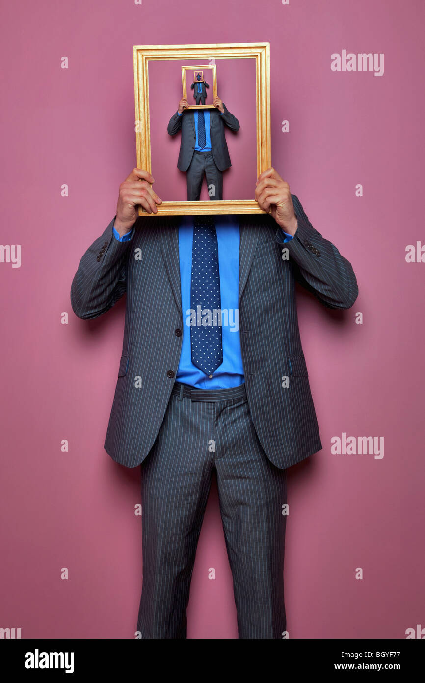 Uomo senza volto Immagini Stock