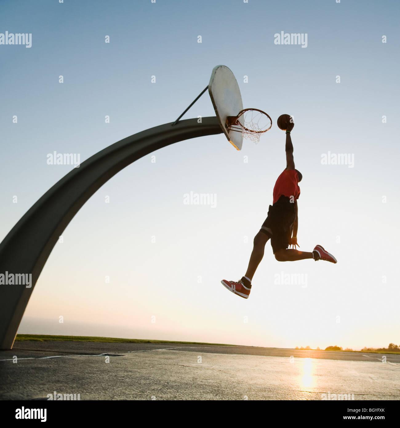 Giocatore di basket Immagini Stock