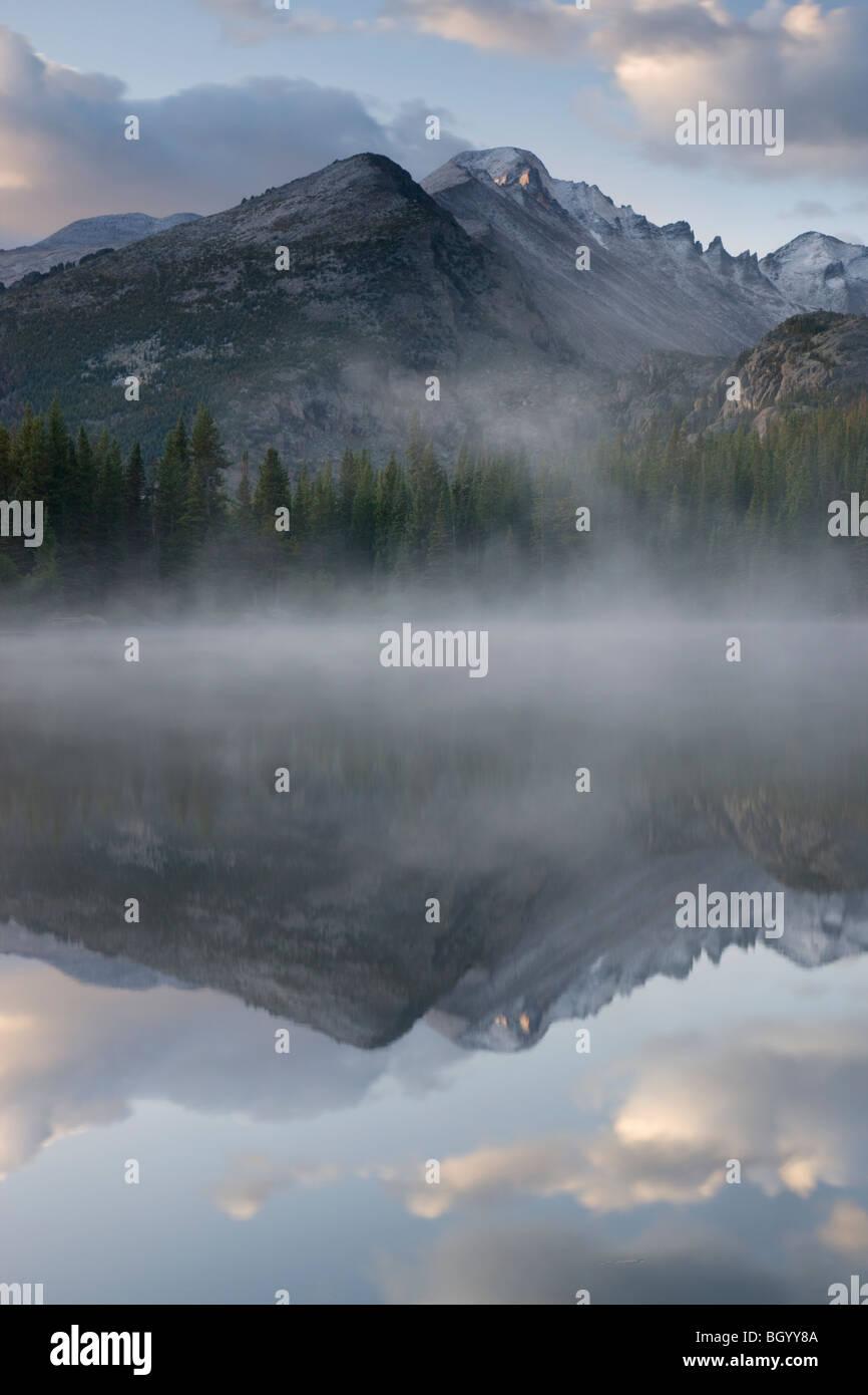 Bear Lake, il Parco Nazionale delle Montagne Rocciose, Colorado. Immagini Stock