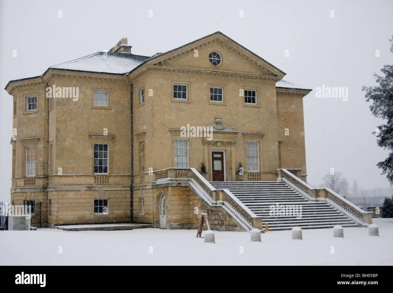 Danson House nella neve Immagini Stock