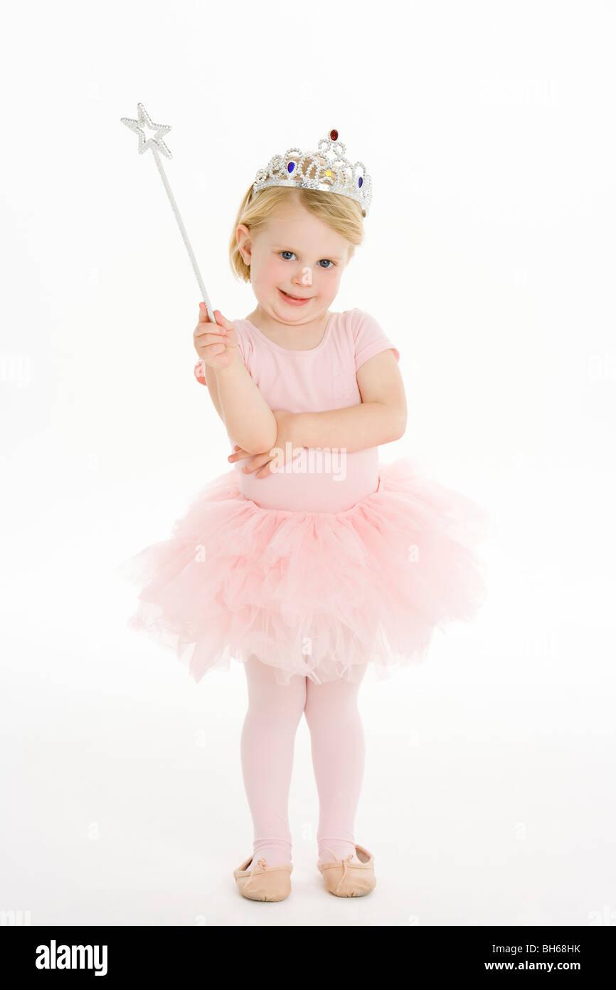 Bambina vestito come fata Immagini Stock