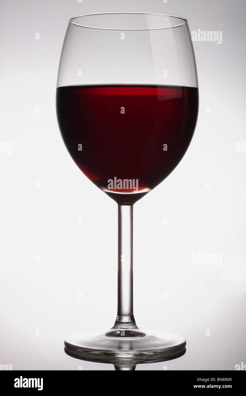 Bicchiere per vino rosso Immagini Stock