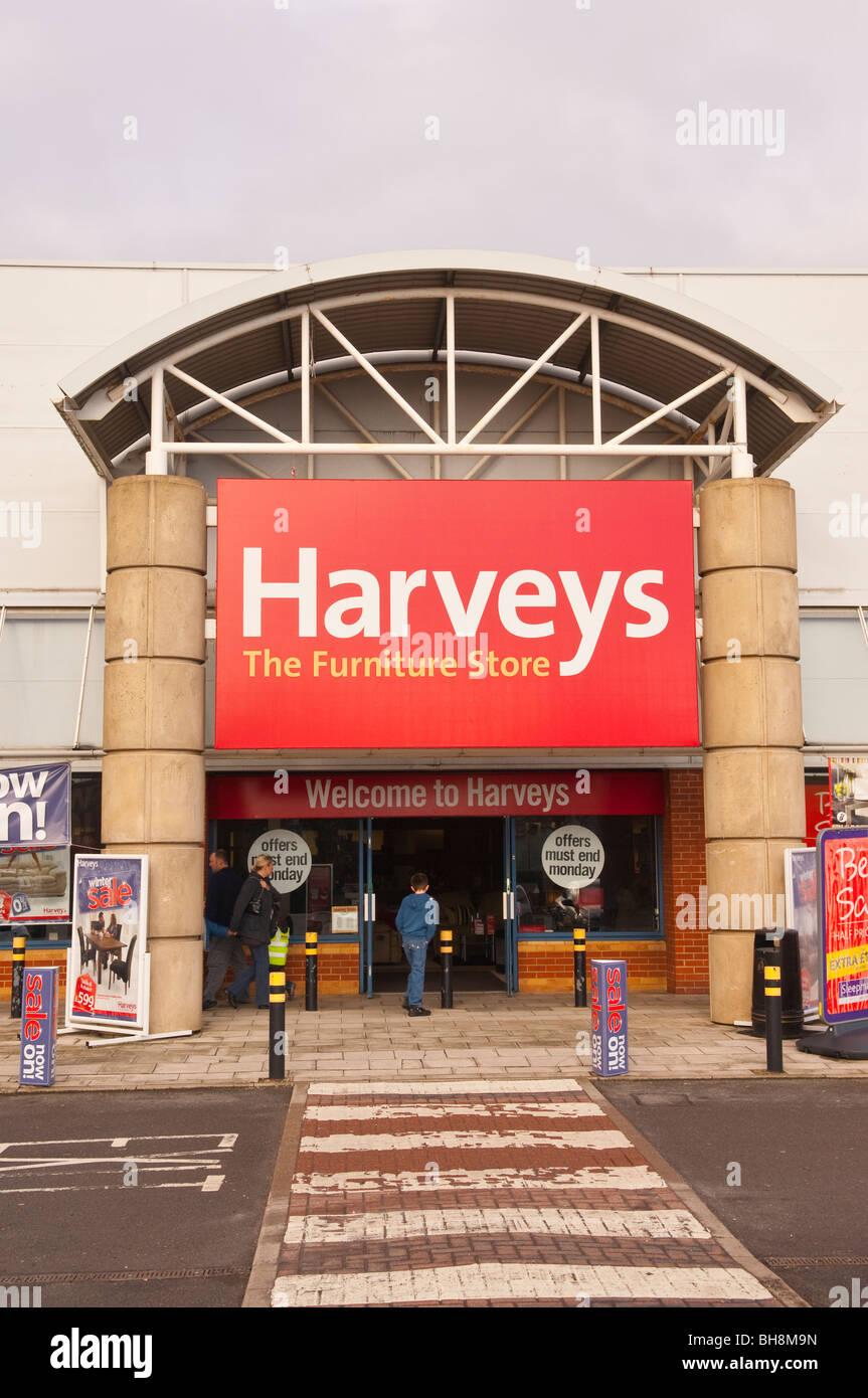 Il Harveys negozio di arredamento negozio in Norwich , Norfolk , Inghilterra , Inghilterra , Regno Unito Immagini Stock