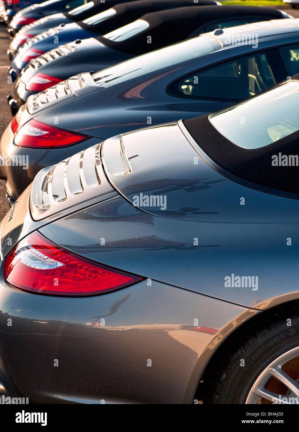 Porsche Carrera dettaglio. Immagini Stock
