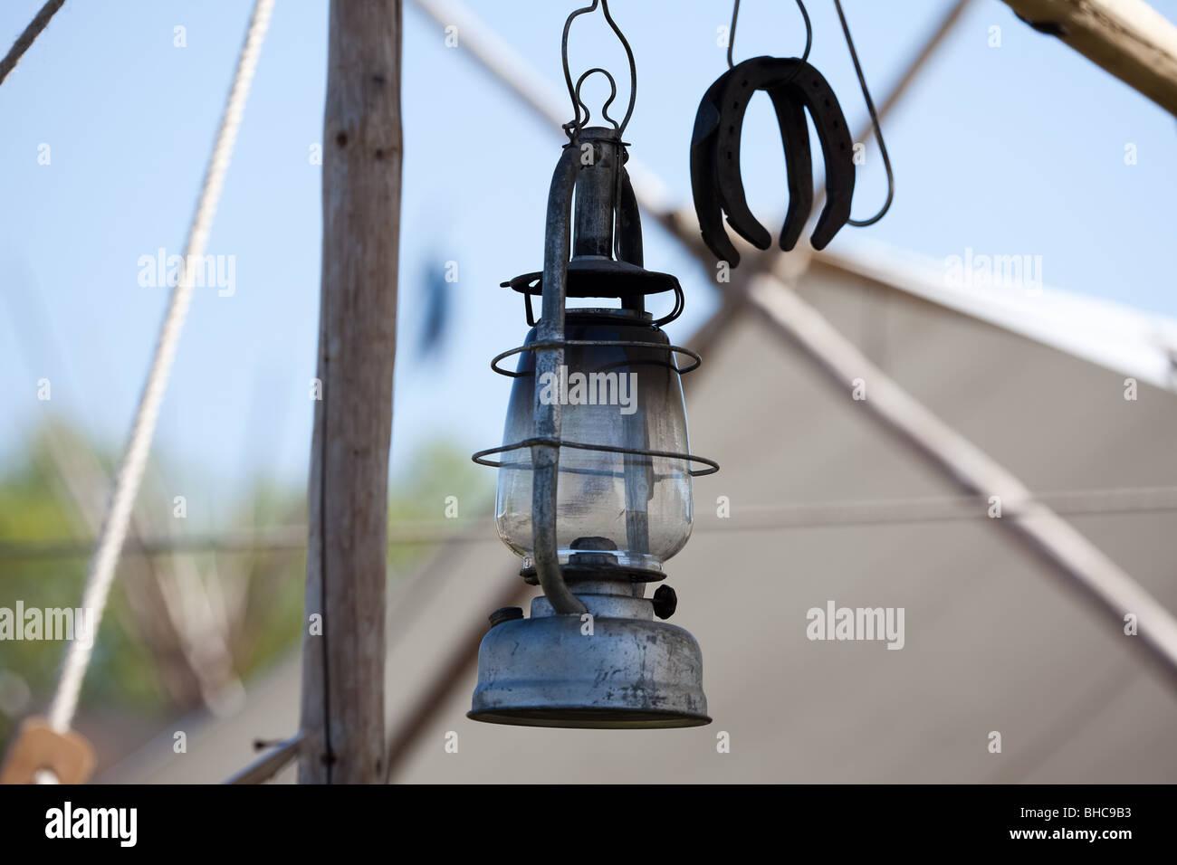 Western olio lampada Immagini Stock
